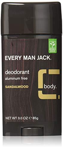 EVERY MAN JACK Deodorant Stick Sandalwood, 3 Ounce (Pack of 6)