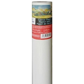 Canson Canva Paper Roll for Craftwork, Bleed-Proof Canvas Like Texture for Oil or Acrylic Paint, 136 Pound, 36 Inch x 5 Yard Roll ()