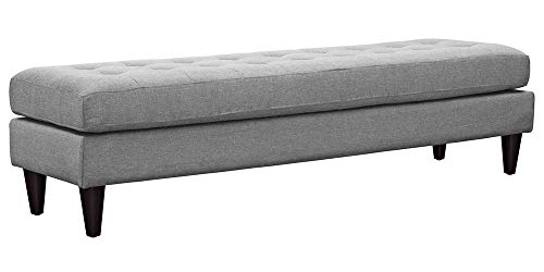 - Modway Empress Mid-Century Modern Upholstered Fabric Large Bench, 71