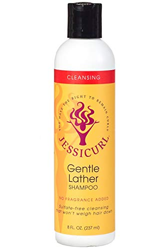 Jessicurl Gentle Lather Shampoo, No Fragrance, 8 Fluid Ounce ()