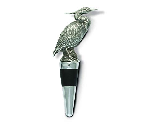 (Vagabond House Pewter Blue Heron Bottle Stopper 5.5