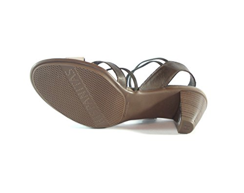 Hispanitas High Heels Sandale Streifen Aluminium