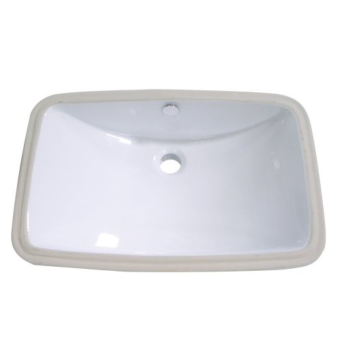 Kingston Brass LB24157 Fauceture Forum Undermount Vitreous China Bathroom Sink, White