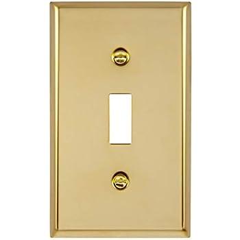 - Baldwin Brass Double Toggle Light Switch Plate Original Packaging 4761-030