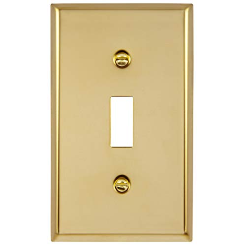 ENERLITES Toggle Light Switch Metal Wall Plate, Stainless Steel Switch Cover, Corrosive Resistant, Size 1-Gang 4.50