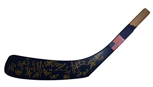 2018 United States Woman's National Team Autographed Hand Signed USA Flag Logo Hockey Stick Blade with Proof Photo of Signing and COA, Monique Lamoureux, Hilary Knight, Maggie Rooney and more