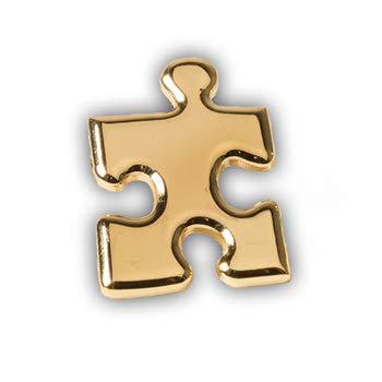 - Gold Puzzle Piece Lapel Pins (10/set)
