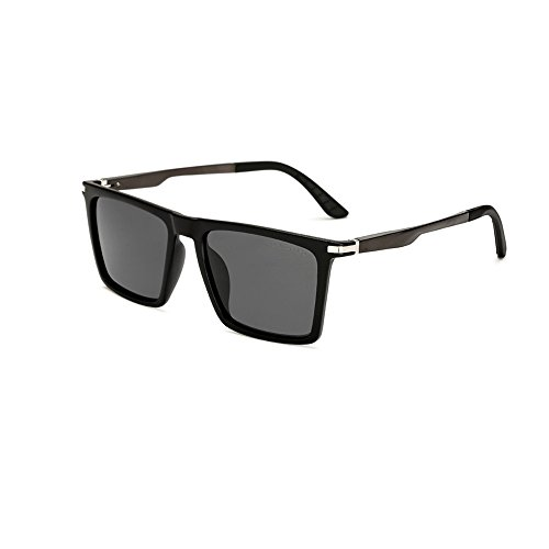 LongKeeper Mens Polarized Square Sunglasses Classic Unisex Sun Glasses - Men Square Glasses
