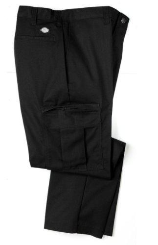 - Dickies 2112372BK Men's Premium Industrial Cargo Pant, Black, Size 36X32