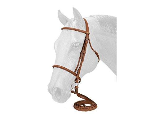 Silver Fox Raised Snaffle Bridle Brown Horse
