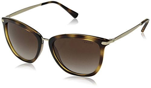 Ralph by Ralph Lauren Women's 0ra5245 Cateye Sunglasses, DARK HAVANA, 55.0 ()