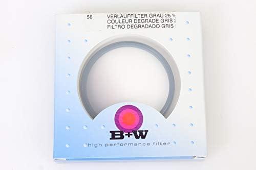 New B+W 502 Colour Grad Grey 25/% 58MM Filter 63816