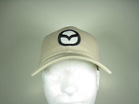 mazda mx5 baseball cap mx 5 new hat beige white adjustable back amazon men clothing store