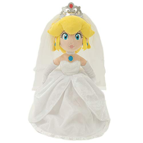 Little Buddy 1692 Super Mario Odyssey: Peach Bride (Wedding Style) Plush, 13.5