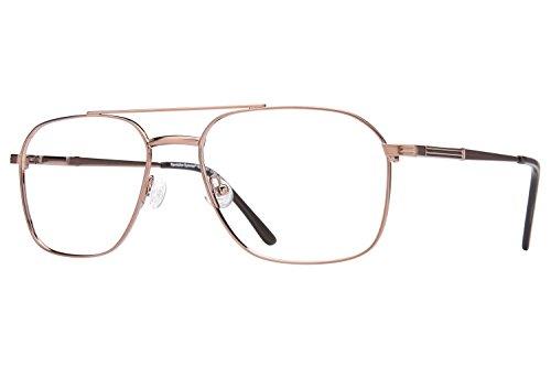 Revolution Mens Eyeglasses - Revolution 451 Eyeglass Frames - Light Bronze/Grey Clip-On