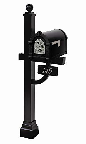 Gaines - Eagle Keystone Series Custom Mailbox Set (Black/Nickel) (Gaines Deluxe Post)