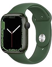AppleWatch Series7 GPS, koperta 45mm, aluminium wkolorze zielonym, pasek sportowy, koniczyna– rozmiar standardowy