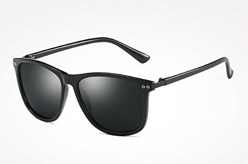 Gafas gray Sol Mujer polarizadas Sol Espejo Calidad Negro black de Masculino Gafas Espalda Sol Sunglasses de de Moda Hombre Gris TL Alta Gafas de Femenino Oqw6pIS