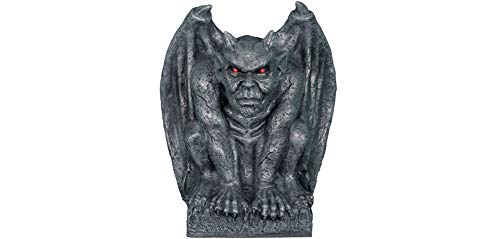 Animated Gargoyle Statue Halloween Decoration and Prop, 13 3/4