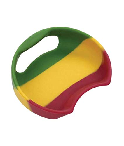 MattsGlobal Shop Flexible Universal Splashguard-Dishwasher Safe Flexible Silicone Construction-Fits Most Wide Mouth Water Bottles-Perfect for Indoor/Outdoor Use-Multiple Design Available (Rasta) by MattsGlobal Shop