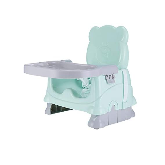 LBLA Baby Booster Seat for Feeding,Folding Booster Chair for Eating Green