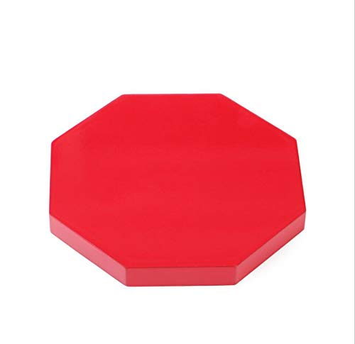 (luoluostand Oriental Furniture Luxury Composite Wood Octagon Shape Display Stand Holder Wooden Base Pedestal (Red) )