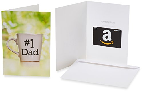 Amazon.com $50 Gift Card in a Greeting Card (Number 1 Dad Design) (Card Gift 1)