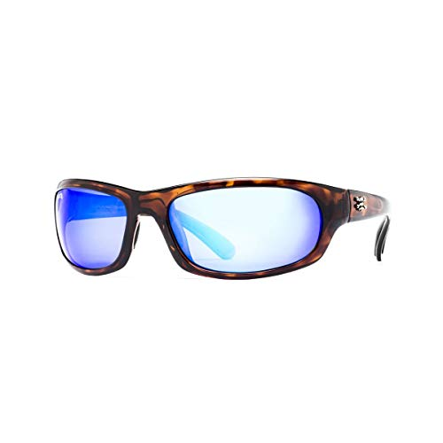 Calcutta Collection - Calcutta Steelhead Sunglasses (Tortoise Frame, Blue Mirror Lens)