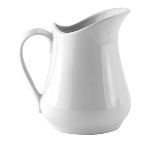 HIC Creamer Pitcher with Handle, Fine White Porcelain, 32-Ounces