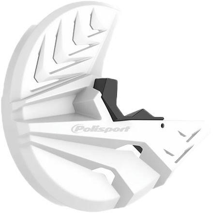 15-18 HONDA CRF450R: Polisport Disk & Bottom Fork Protector (WHITE/BLACK)