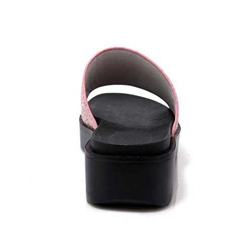 Mules TAOFFEN Ouvert Femmes pink Bout wqBrB80Y