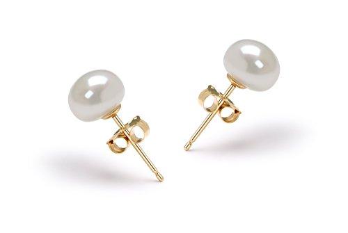 Blanc 6-7mm AA-qualité perles d'eau douce -un set en perles