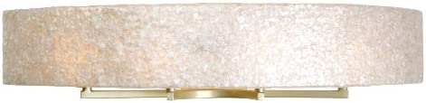 Varaluz 173B04A Radius 4-Light Vanity – Gold Dust Finish with Crushed Natural Sustainable Capiz Shell