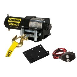 3,000 lb Champion Power Winch Kit Tools Equipment Hand Tools