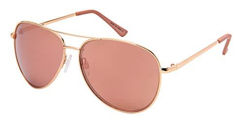 Edge I-Wear 2019 New Classic Designer Aviator Style Sunglasses for Women Pink Mirror Lens UV400 Protection C196-PKREV(RG.pkrev)