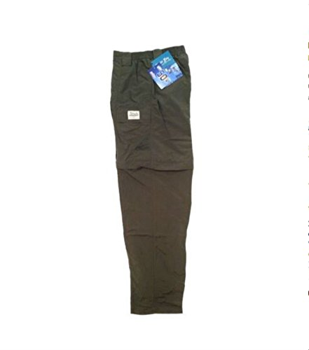Zip Off Pants Olive (Bimini Bay Outfitters Grand Cayman Zip-Off Nylon Pant , Olive , X-Large)
