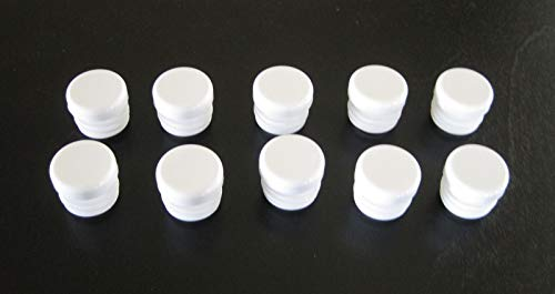 Anywhere a Finished Look is Needed 10 Pack - 3/4 inch Round Tube White Plastic Hole Plug End Cap Cover .75'' Pipe Caps Inserts for Tube Pipe Box