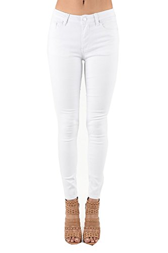 Muselooks Women's Juniors Skinny Slim Fit Distressed Ripped Stretchy Denim Jeans