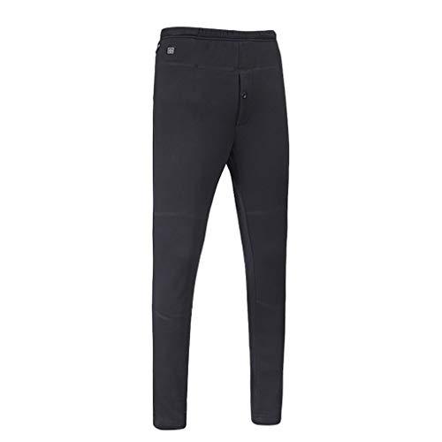DEATU Sale Men's Heating Leggings Trousers Winter Plus Velvet Thick Warm Slim Heavyweight Pants Charging Heated Pants(Black,US:14/Size:XXXL)