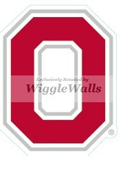 - 3 INCH O Logo Symbol Red White OSU Ohio State University Buckeyes Removable Wall Decal Sticker Art NCAA Home Decor 2 by 2 3/4 inch