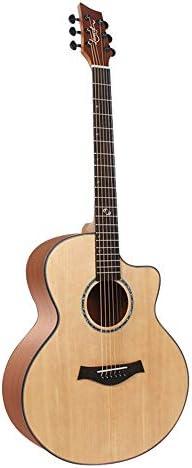 ギター 初心者ProfessionalのアコースティックギターとチューナーバッグストラップPlectrumsそしてギター弦 入門 ギター (Color : Natural, Size : 41 inches)