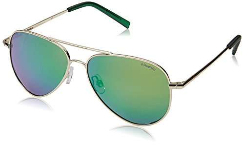 Polaroid Sunglasses PLD8015N Polarized Aviator Sunglasses, Gold/Green Mirror Polarized, 52 ()