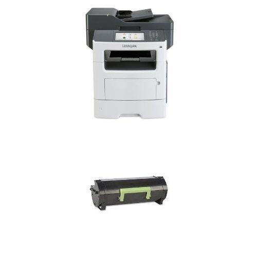 Lexmark 35S6700 Wireless Monochrome Printer with Scanner and Copier & Lexmark 60F1000 Return Program Toner ()