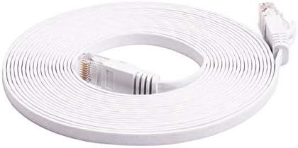 Computer Cables CAT6 Flat Ethernet Cable 1000Mbps Internet Router Cable LAN Cable for Computer Router Laptop 1//2//3//5//10M Cable Length: 5M, Color: 1
