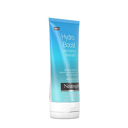 Neutrogena Hydro Boost Gentle Exfoliating Facial Cleanser with Hyaluronic Acid, Non-Comedogenic Oil-, Soap- & Paraben-Free Daily Face Wash, 5 oz (Pack of 3)