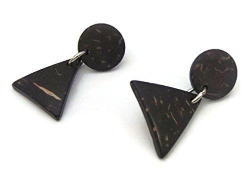 CHADADA Jewelry Natural Wood Dangle Earrings Handmade for Women (Natural Wood), EN5 (Hindu Halloween Costumes)