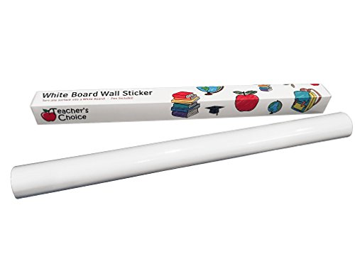 "Teacher's Choice Self-Adhesive Whiteboard Wall Sticker - Over 6.5 feet Long (78.7"" × 17.7"") Pen Included (Vinyl Erase Dry)"