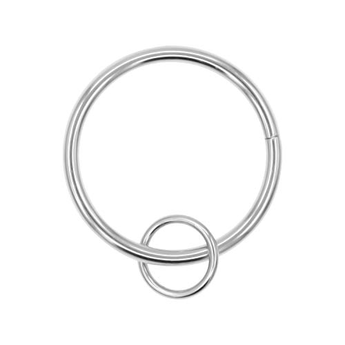 (Coideal Curtain Ring Loop, 10 Pack Heavy-Duty Metal Drapery Eyelet Round Curtain Rings for Hook Pins, Windows, Cafes, Home Kitchen Useage, Fit up to 1 1/4-inch Rod (Silver))