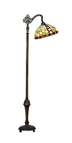 Springdale by Dale Tiffany STF17093 Mackey Directional Down Bridge Tiffany Floor Lamp -
