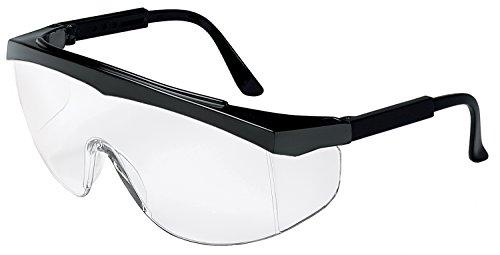 MCR Crews SS110 Stratos Safety Glasses Black Frame Clear Lens 1 Pair